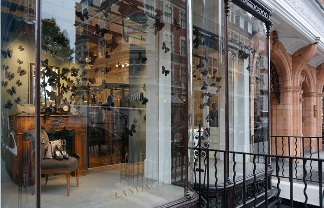 Lanvin windows in London.