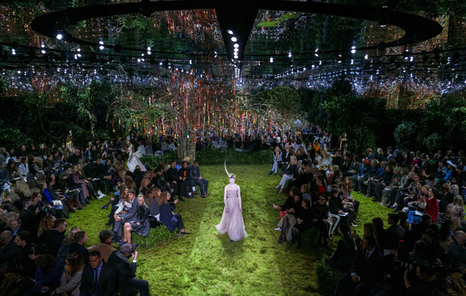 Maria Grazia Chiuri in a Dior Wonderland