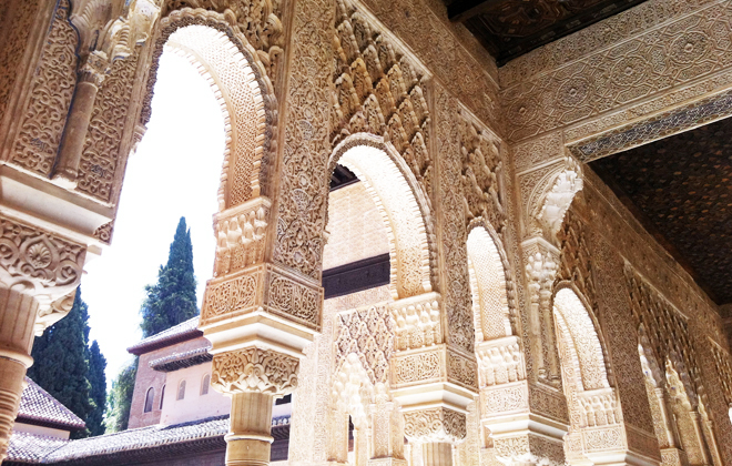 Awestruck at the Alhambra.