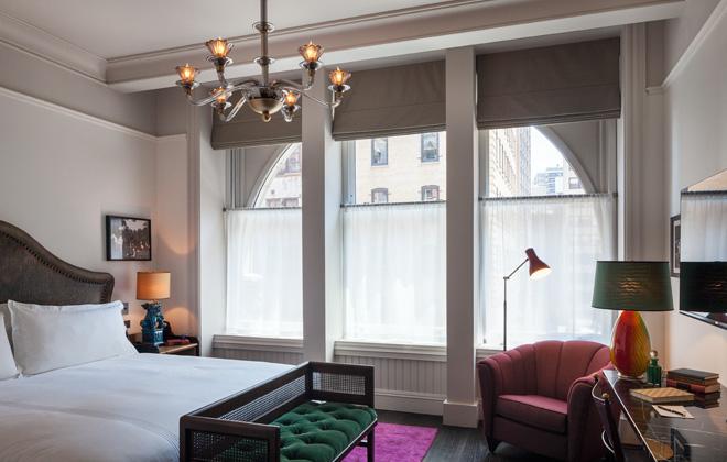 The lovely room interiors. [Photo: Richard Barnes, courtesy The Beekman Hotel]