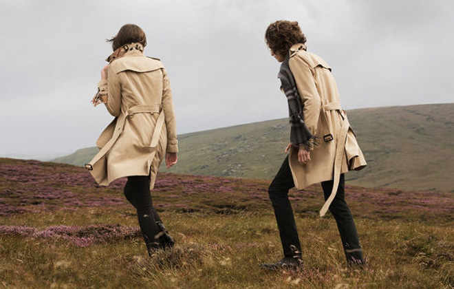 The classic Burberry Trench for him and her.