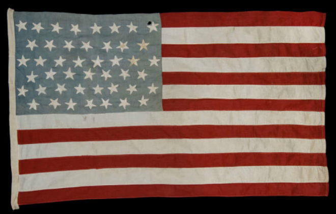 Vintage American flags at Jeff Bridgeman Antiques
