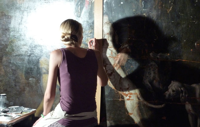 The art of painting restoration at Nymphenburg Palace.
