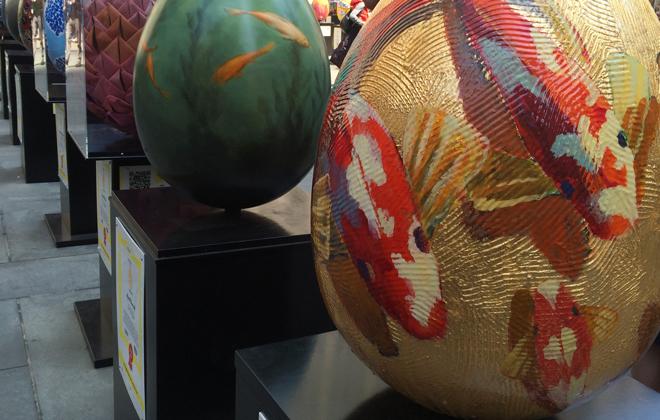 An egg-cellent exhibit.