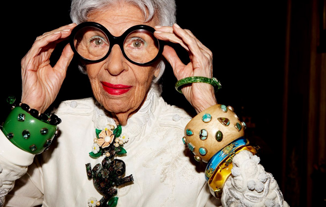 Iris Apfel's eye on textiles.