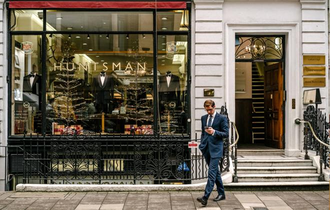 Huntsman Tailors Debut in NYC.