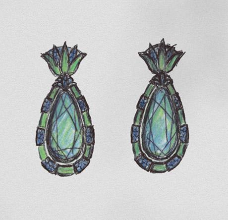 Hemmerle-Egyptia-Earring-Sketch