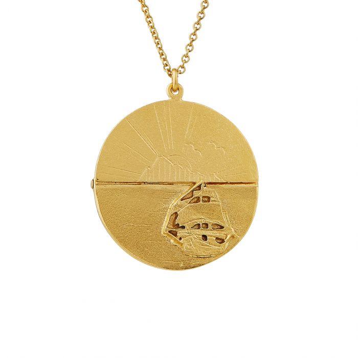 Alex Monroe disc necklace