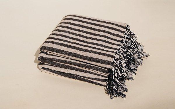mizar-and-alcor-striped-black-towel