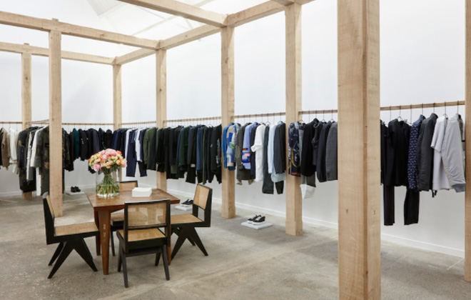 The utterly chic and minimal interiors of Hostem boutique in London.