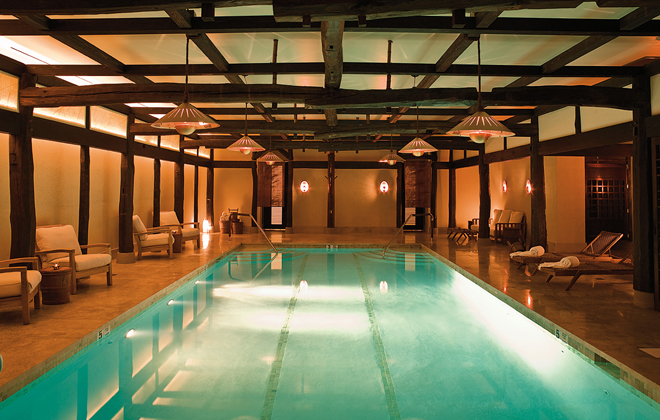 How peaceful does this pool at Shibui Spa look?