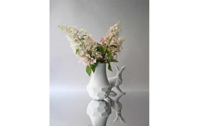 Large Tortoise Vase with Hare.
